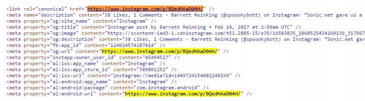 códigos de instagram