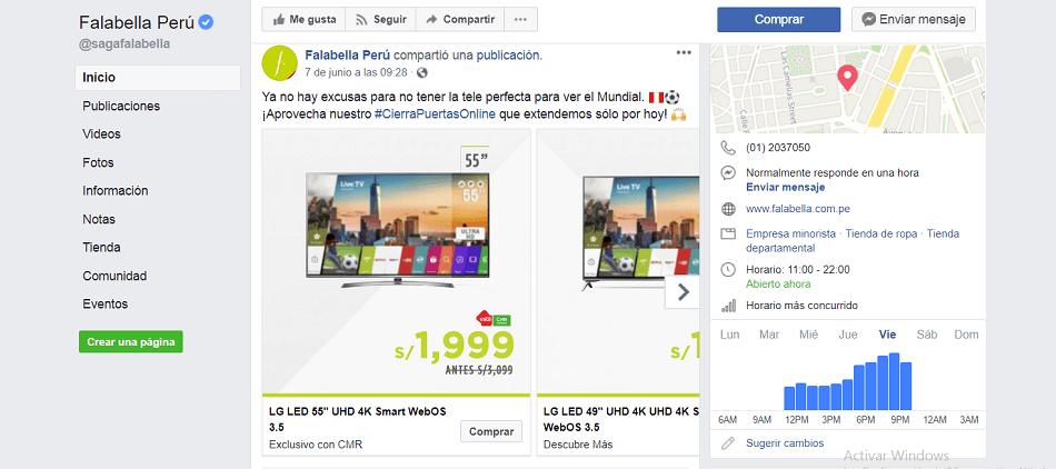 formato de Anuncio de catálogo en Facebook