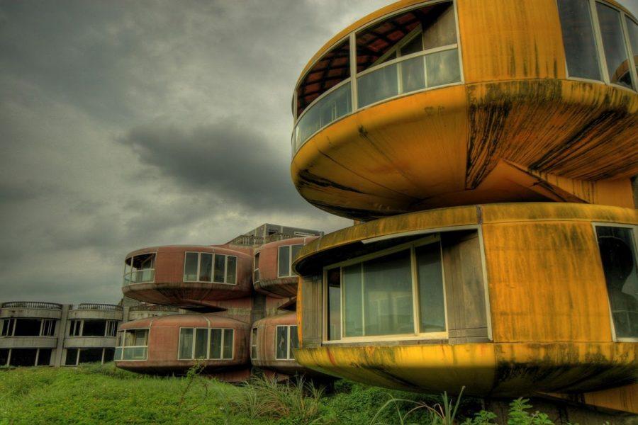 Casas OVNI de Sanzhi fotografías de lugares abandonados