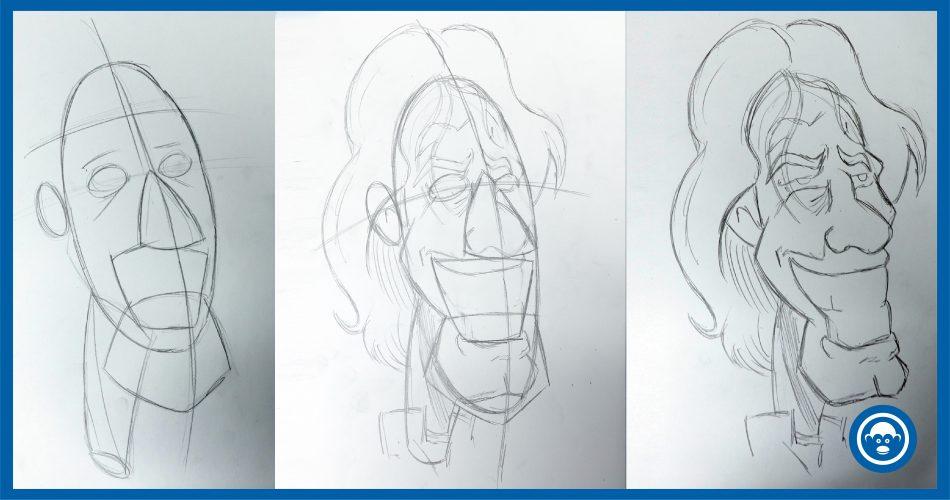 cómo dibujar una caricatura con bocetos