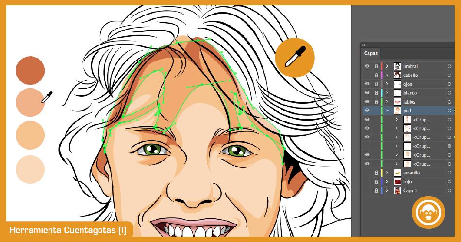 herramientas de pintura para vectorizar imagen