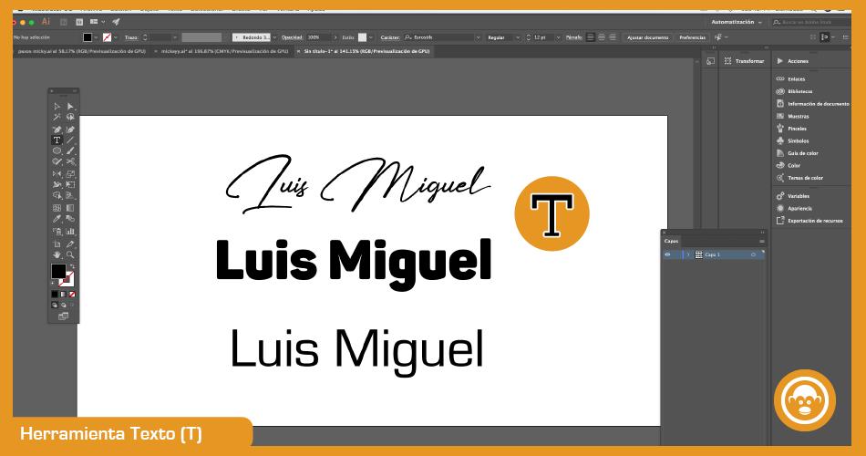 herramientas de texto para vectorizar imagen