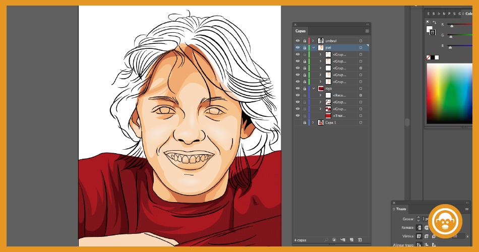 Pintar cada capa de la imagen a vector