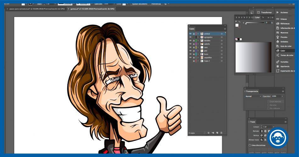 hacer caricaturas en Illustrator