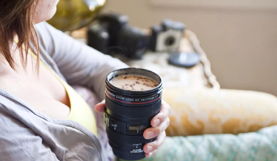 termo o taza de de fotografía