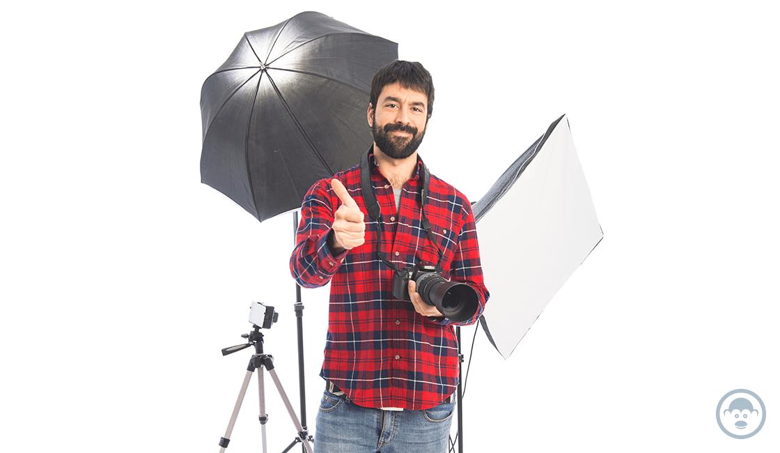 Es importante seleccionar el material para las fotos con fondo blanco