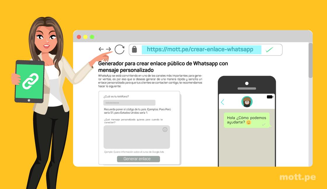 pasos cómo crear un enlace de WhatsApp