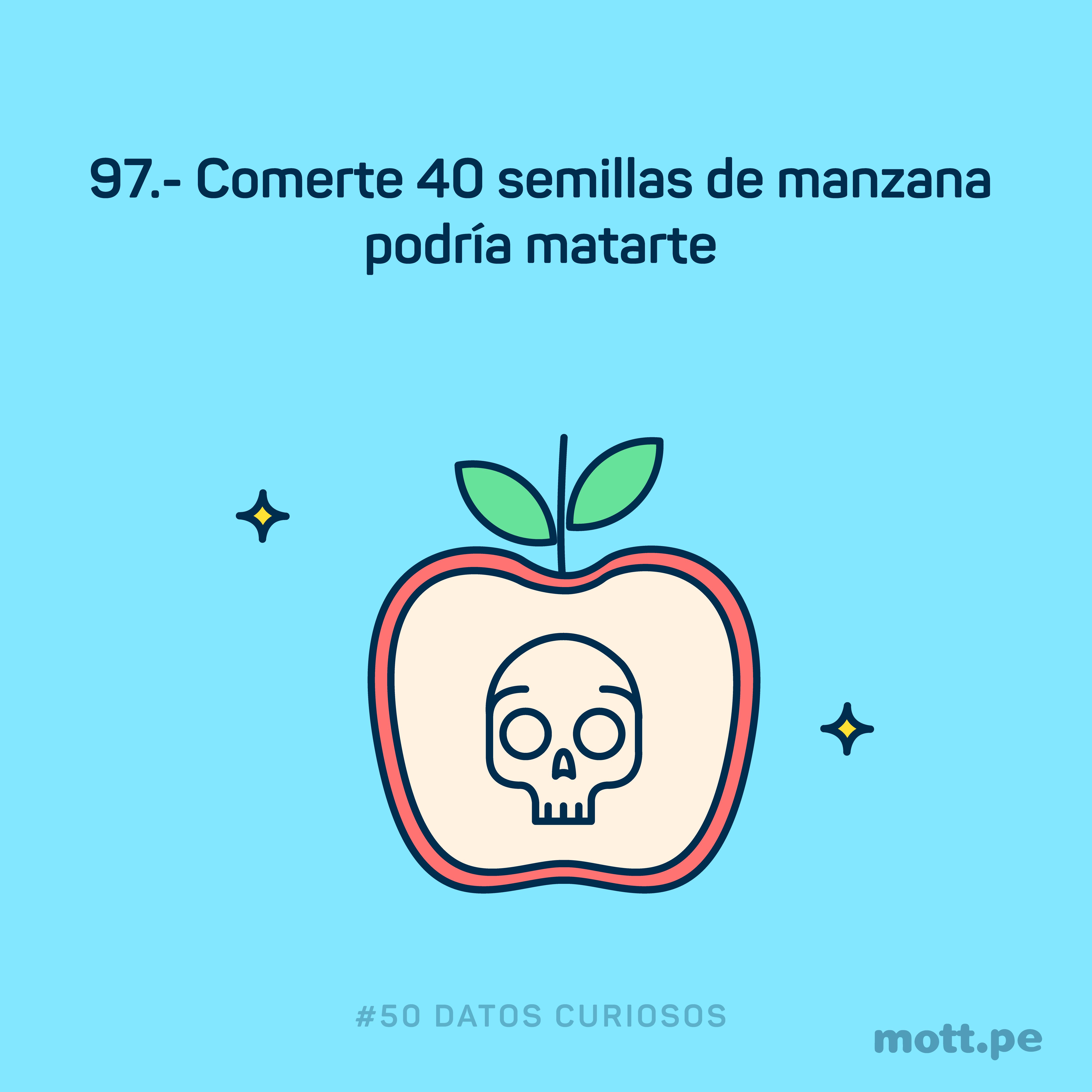 comer semillas de manzana podría causar muerte