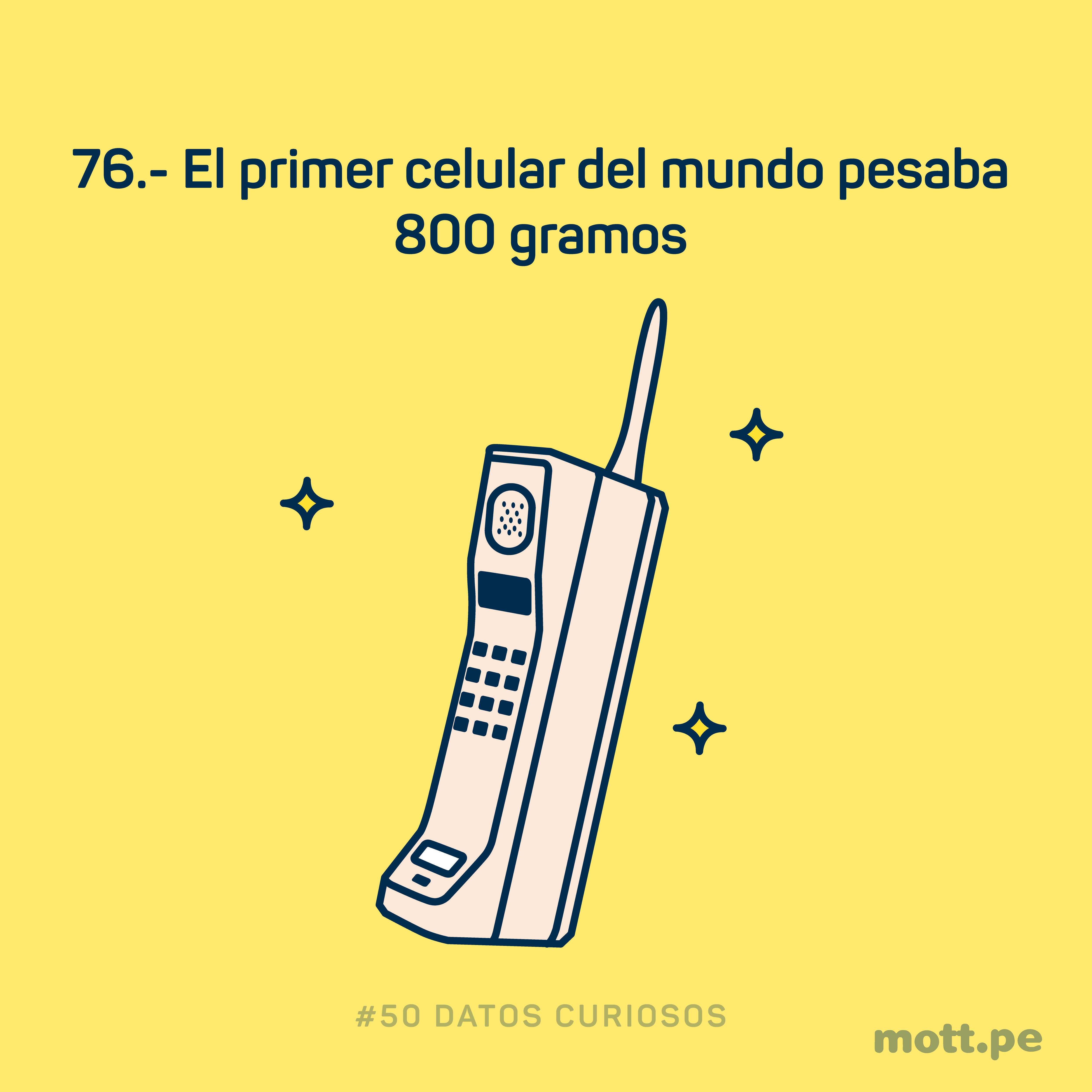 el primer celular peso 800 gramos