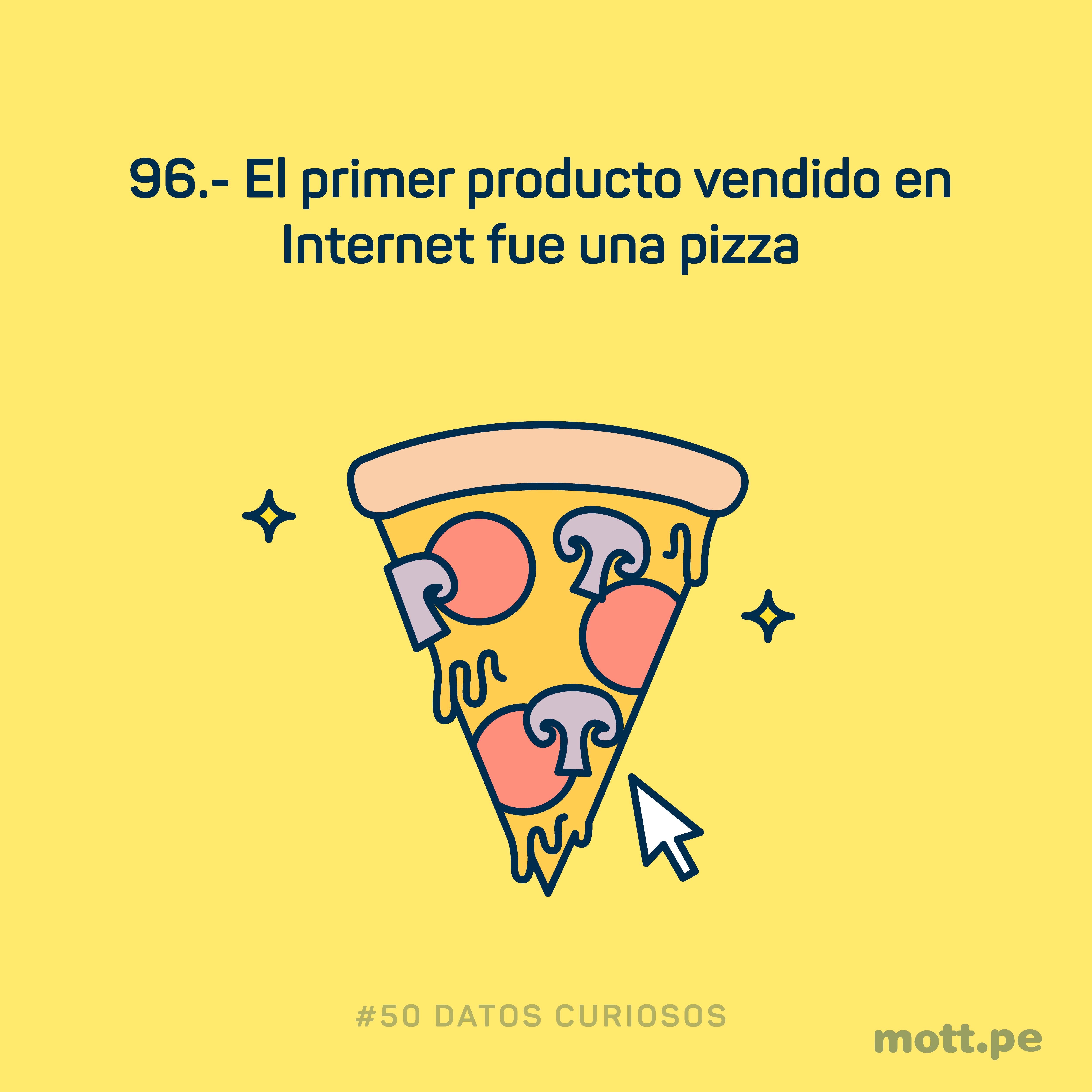 la pizza fue el primer producto vendido en internet
