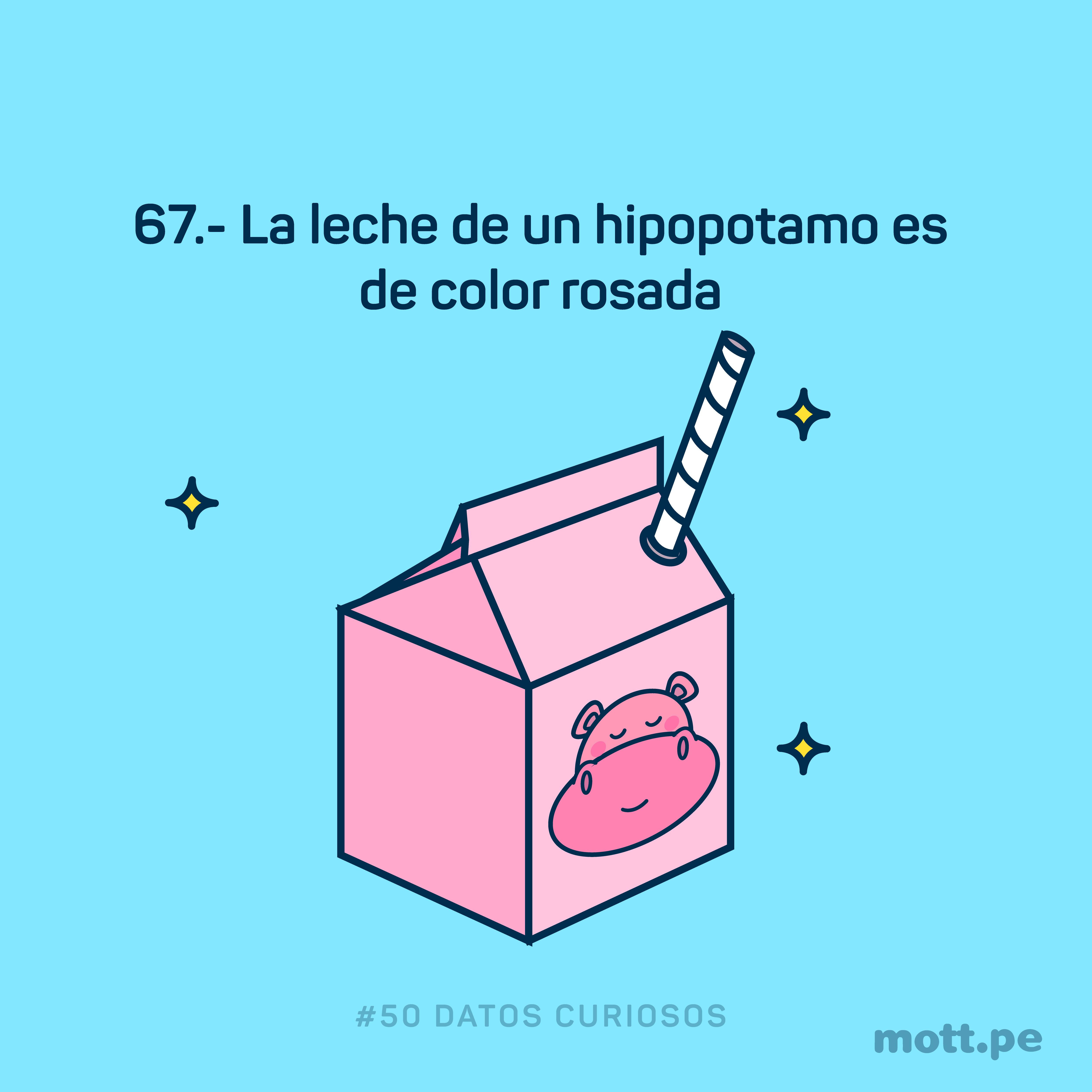 la leche rosada del hipopotamo