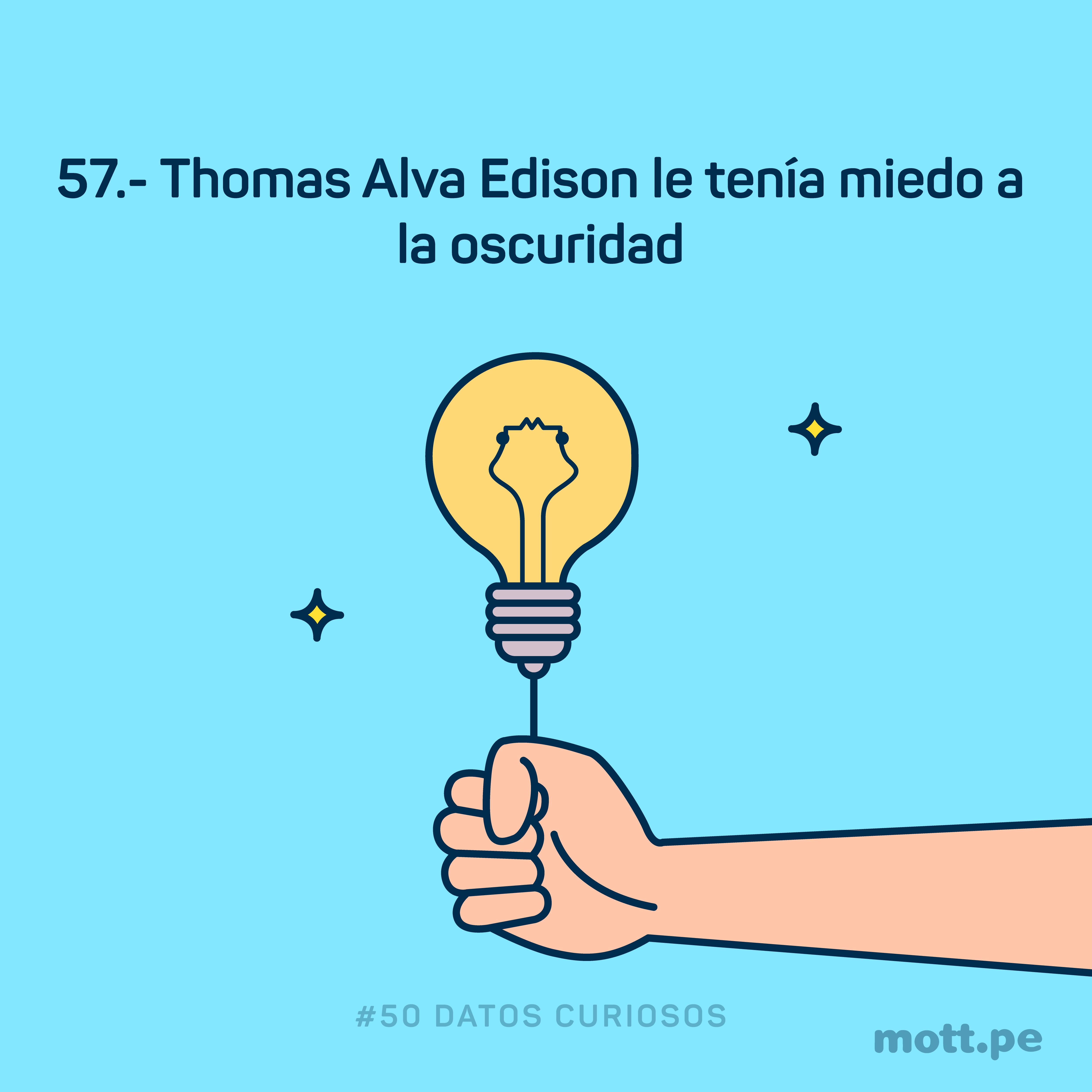 Thomas Alva Edison le temia a la oscuridad