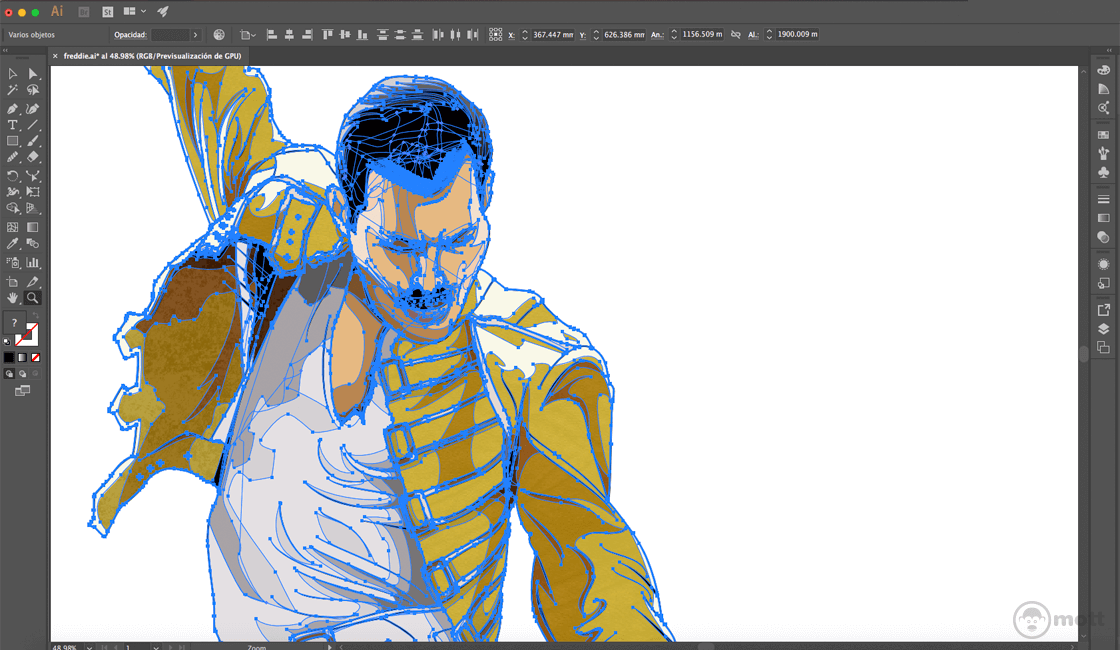 controles de Adobe Illustrator