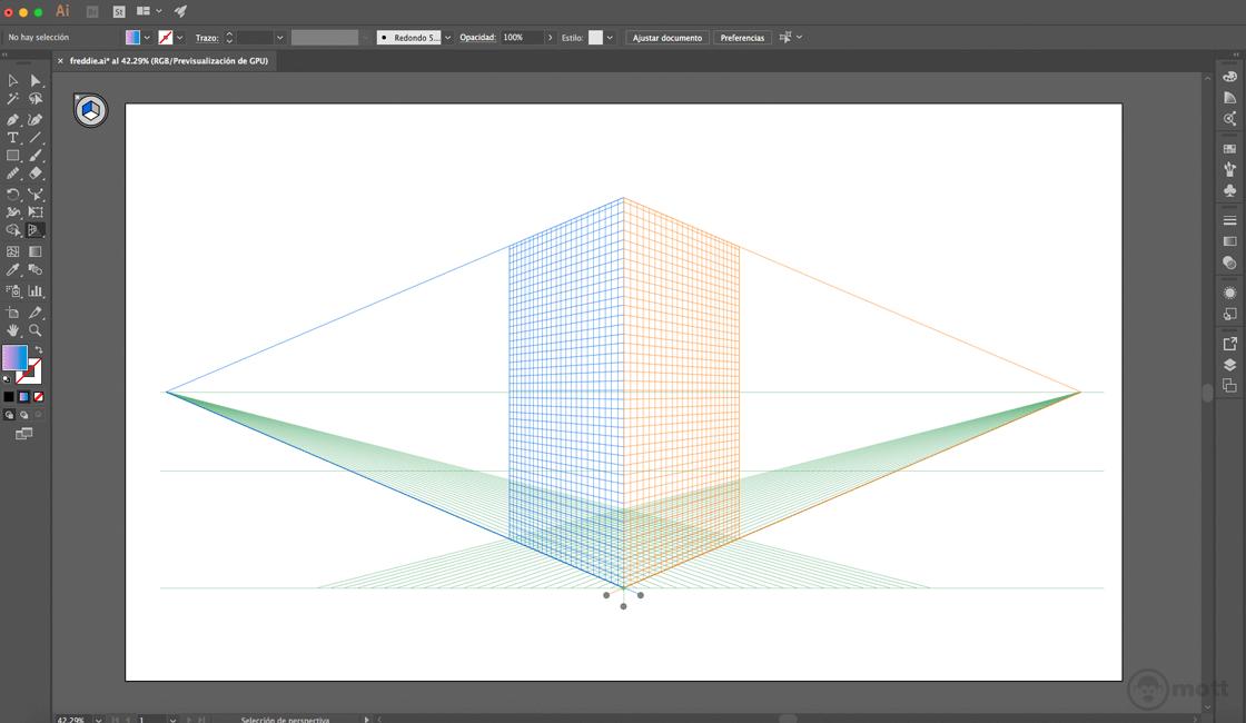 perspectiva de dibujo vectorial