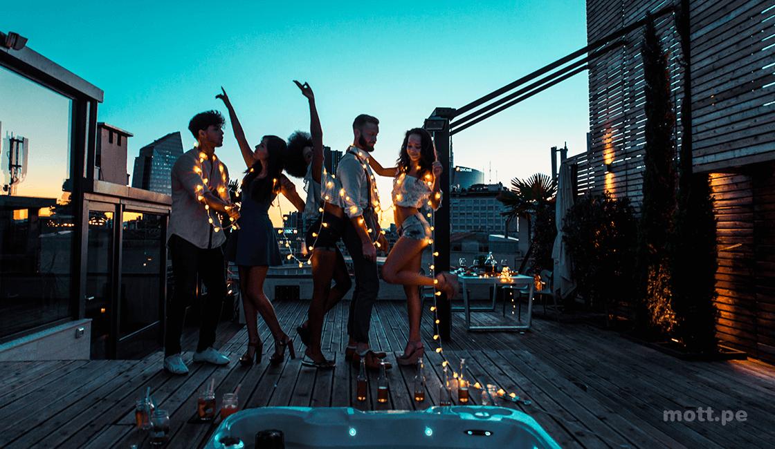 fotos creativas con luces led