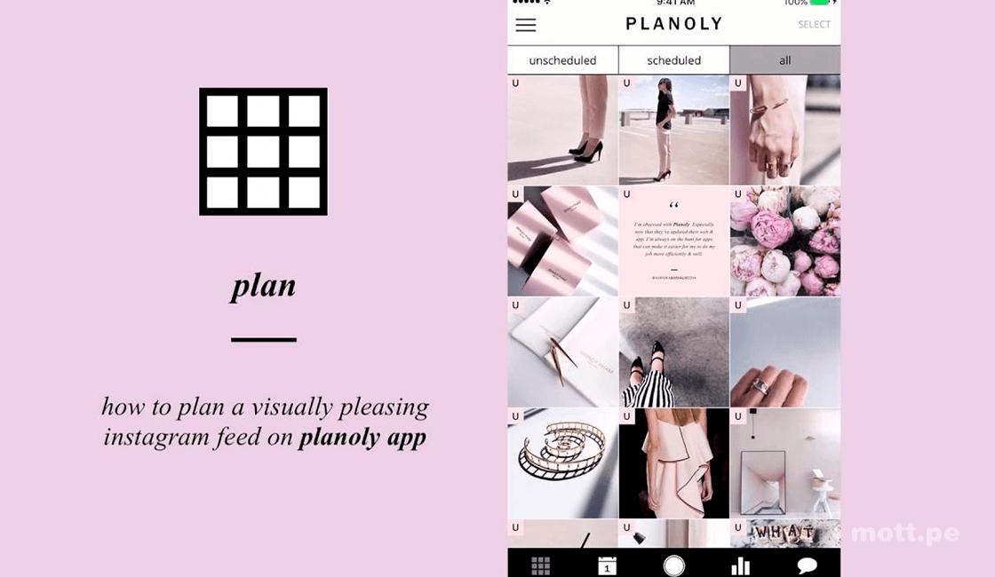 planoly mejores aplicaciones para Instagram