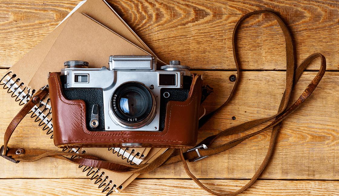 correa para cámara fotográfica antigua