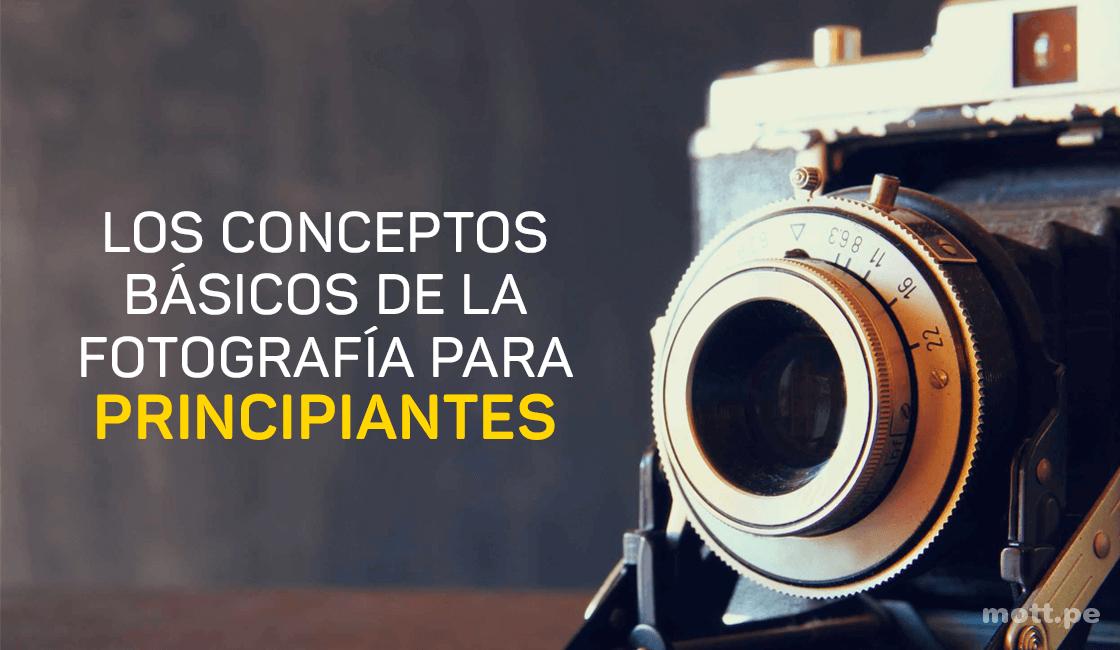 Conceptos básicos de fotografía para principiantes