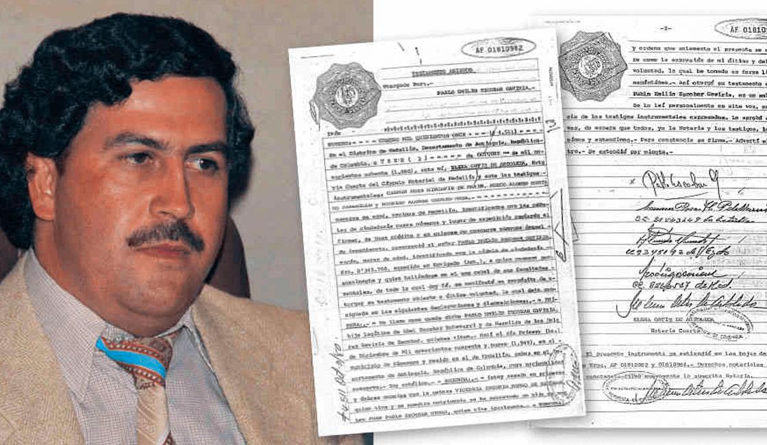 Fotografía documental de la vida y fortuna de Pablo Escobar