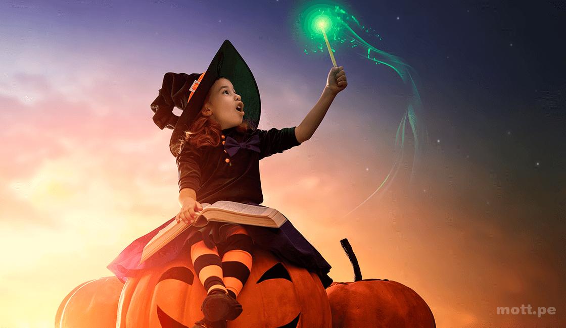 Edición de fotos en imágenes de Halloween
