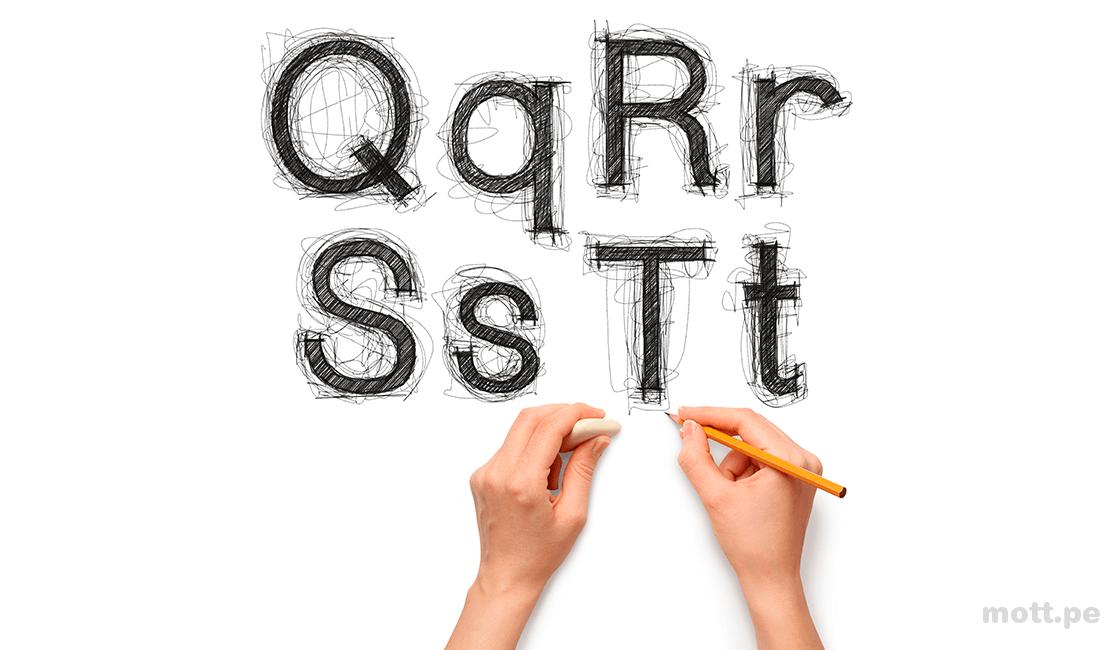 Dibuja el tipo de letra que quieres que sea parte de tus fuentes