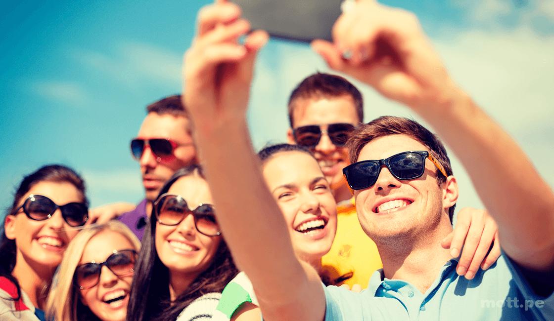 Ten cuidado con los selfies en el sol