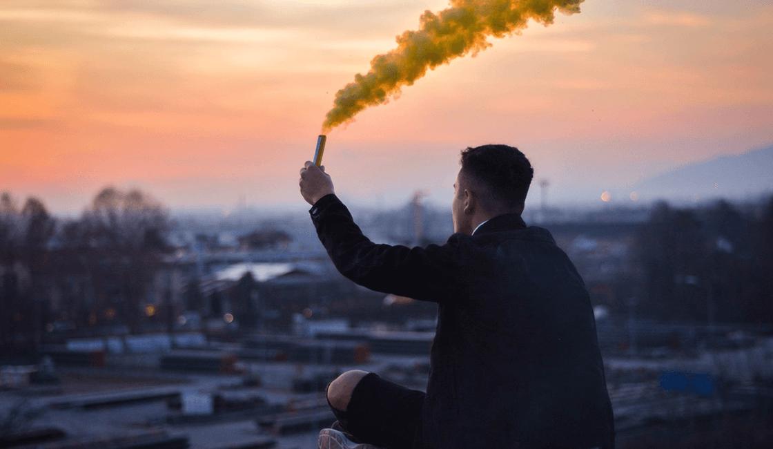 fotos con humo de colores