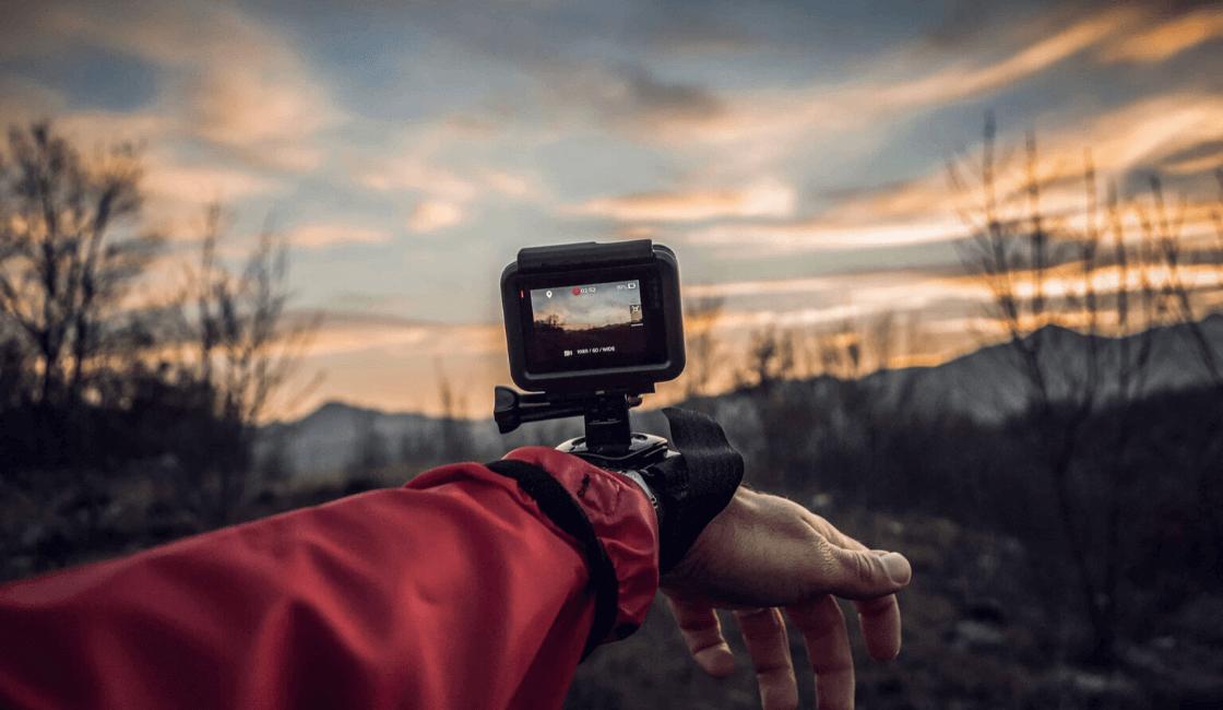 gran cámara para fotos en movimiento