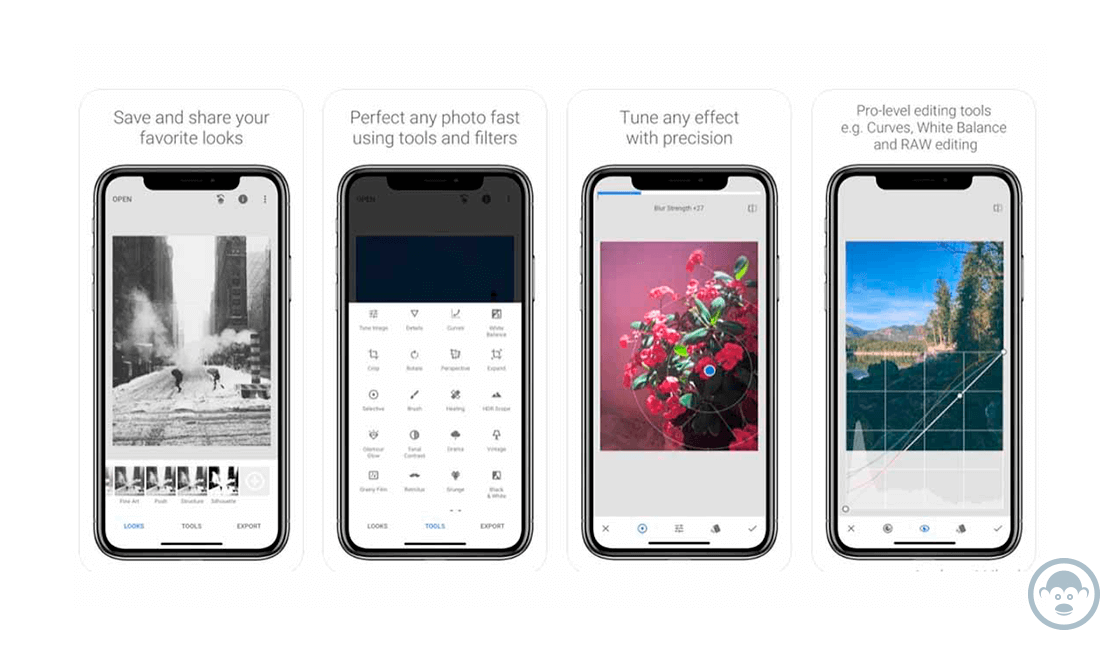 Snapseed, otra de las herramientas para editar fotos