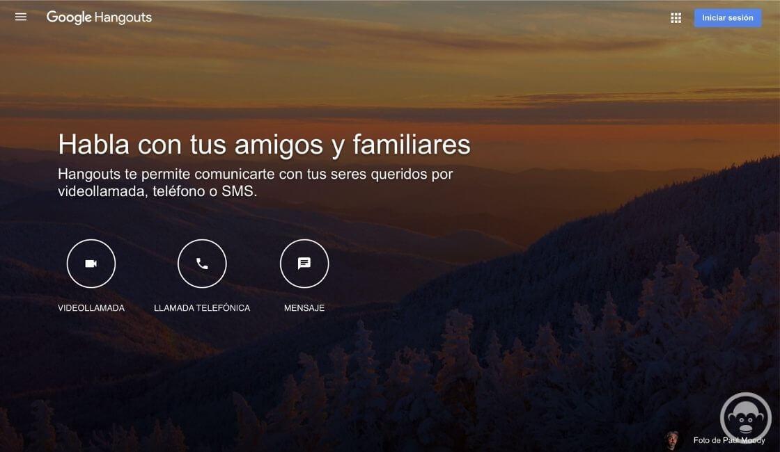 app Google Hangouts de trabajo remoto
