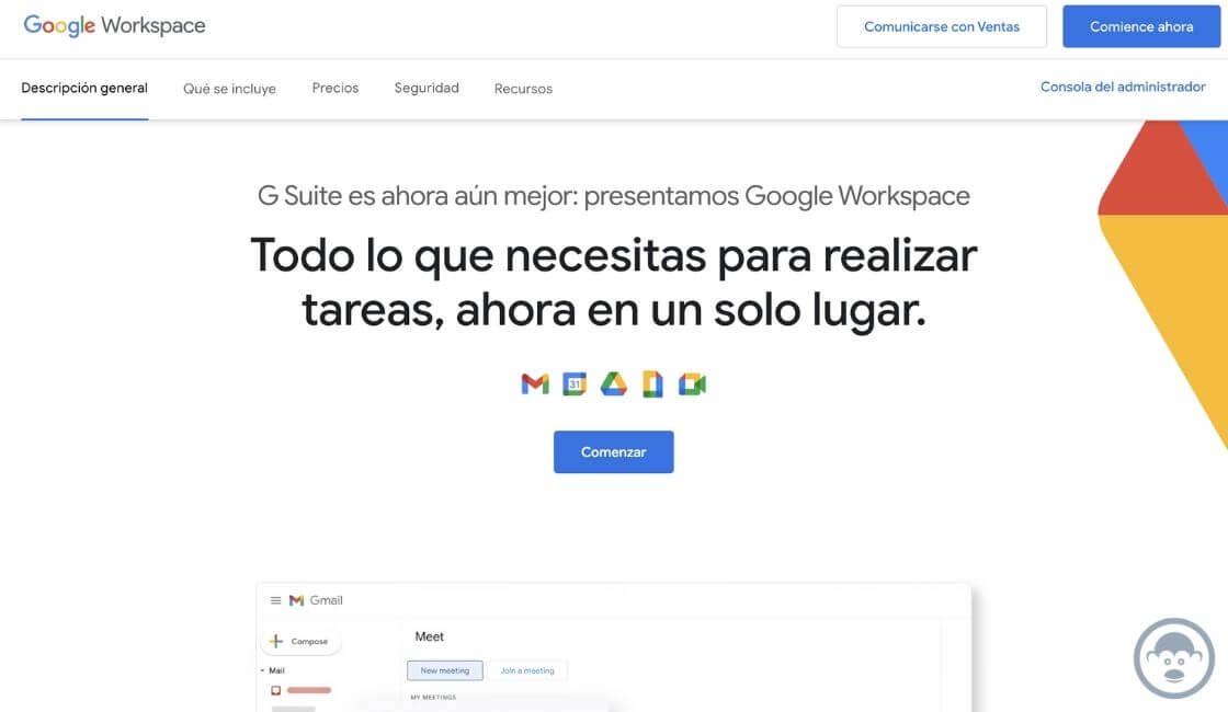 app para teletrabajo Google Workspace