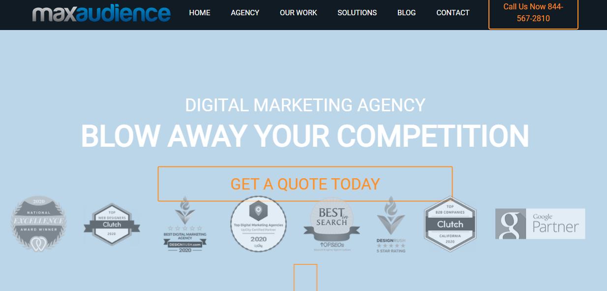 max audience top de 100 agencias de marketing digital
