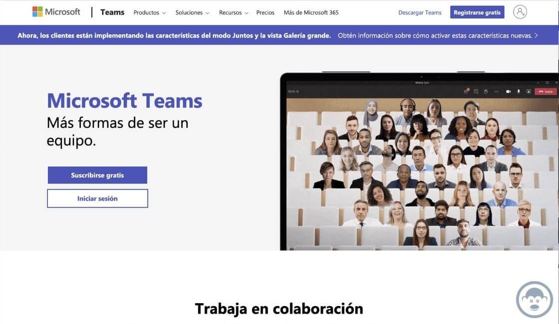 app Microsoft Teams para trabajo en casa