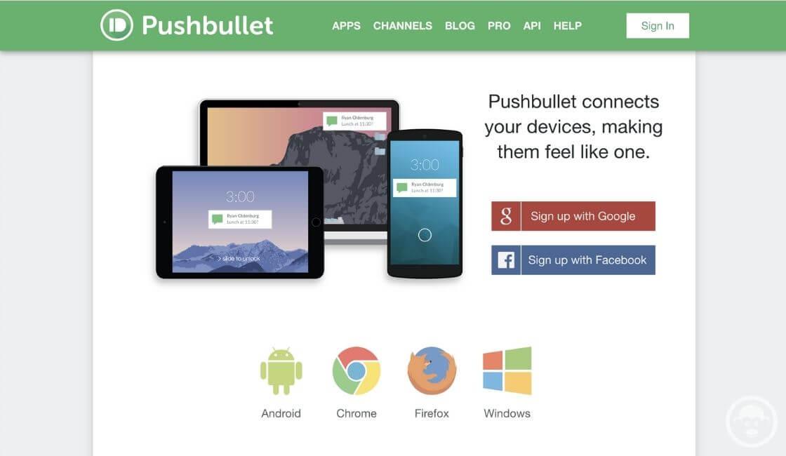 herramienta trabajo remoto Pushbullet