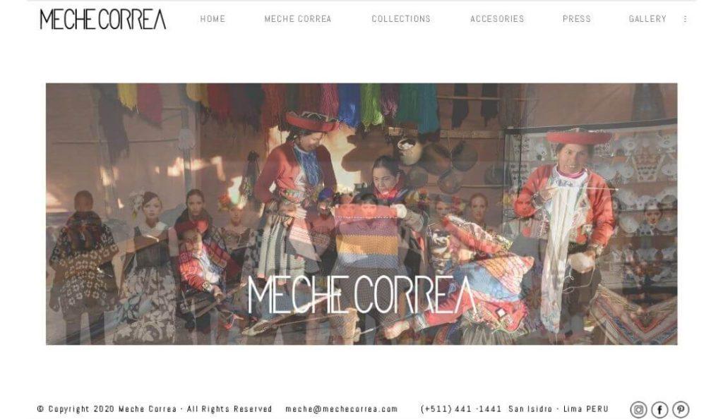 marca de moda peruana meche correa