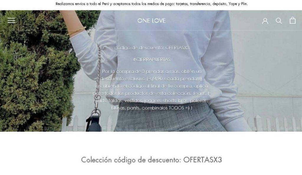 marca peruana de moda onelove