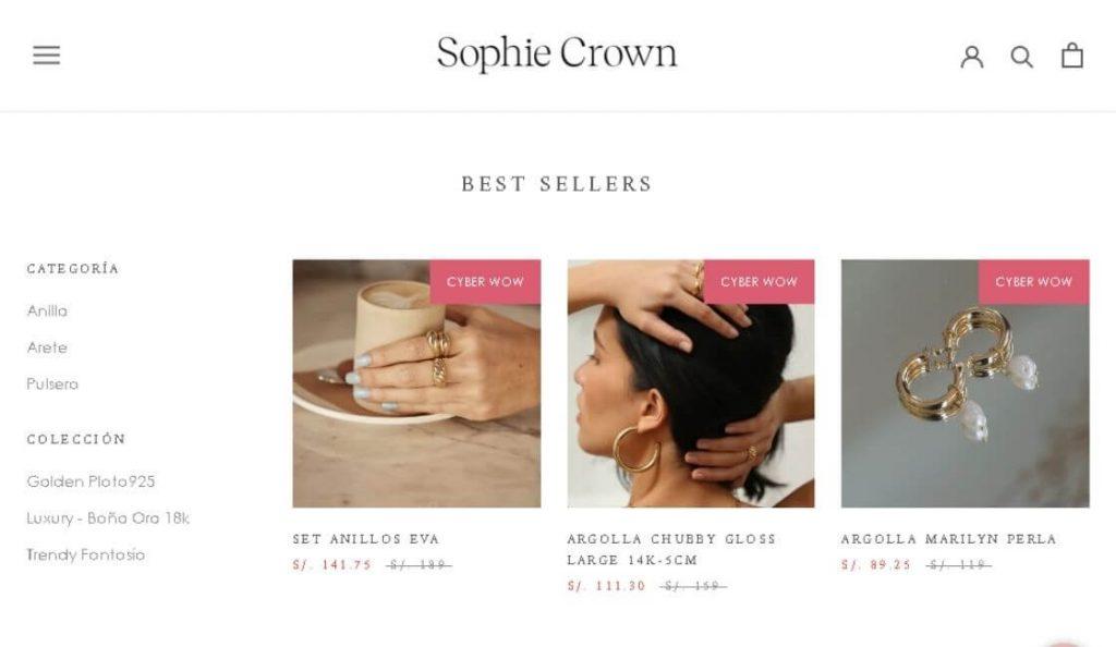 marca de moda exclusiva sophie crown