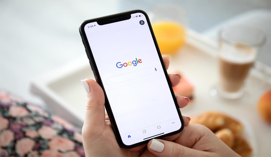 Motor de búsqueda de Google en Apple