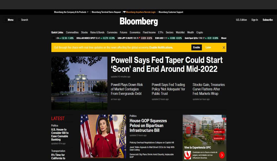 Bloomberg servicio