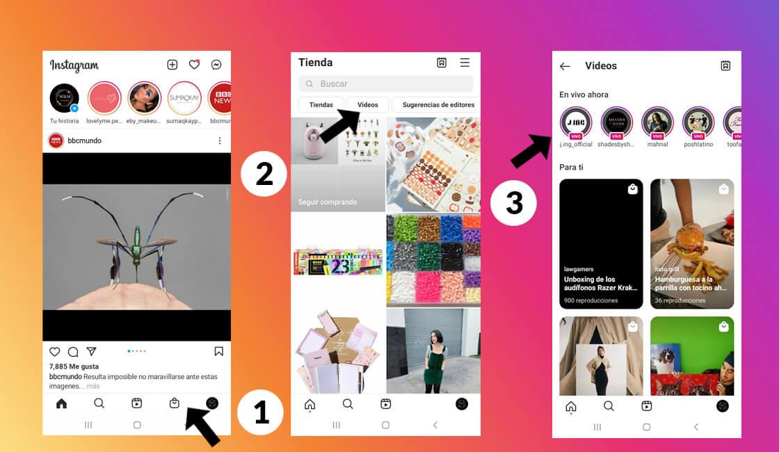 Lives en Instagram Tienda