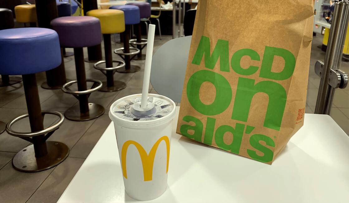 McDonald's recipientes ecologicos