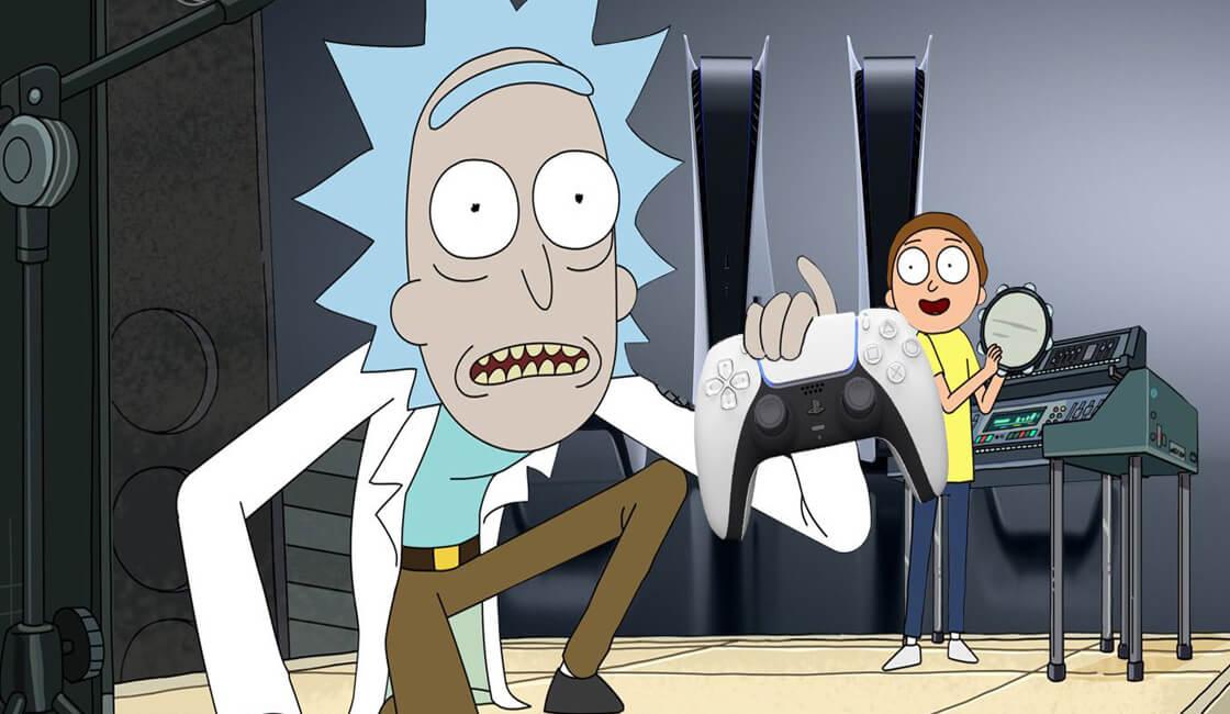 Rick y Morty publicidad para PlayStation