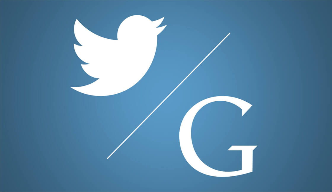 Twitter Google búsquedas
