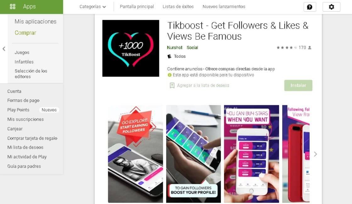 aplicaciones para sumar seguidores en Tik Tok