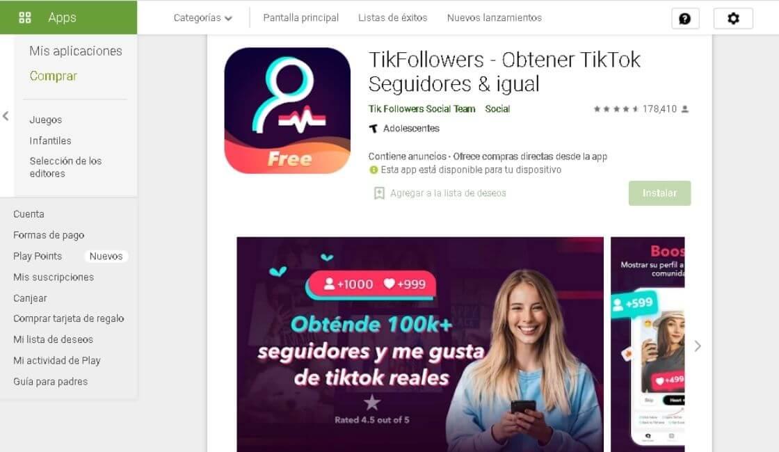 aplicaciones para tener más seguidores en Tik Tok