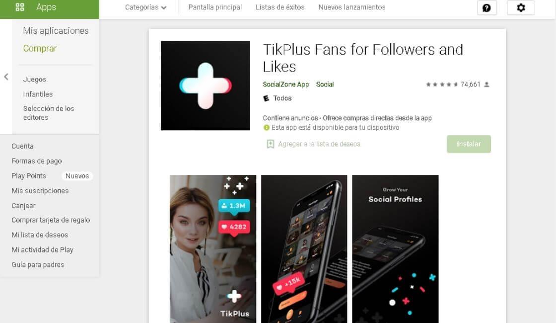 aplicaciones para tener mas seguidores en Tik Tok