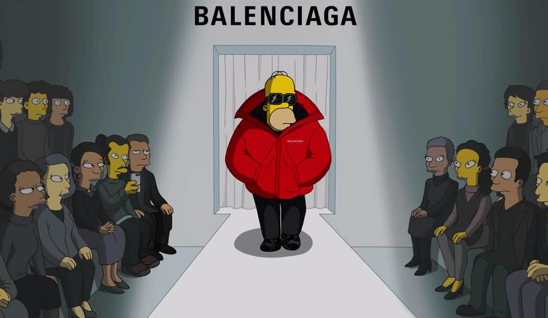 Balenciaga y Los Simpson