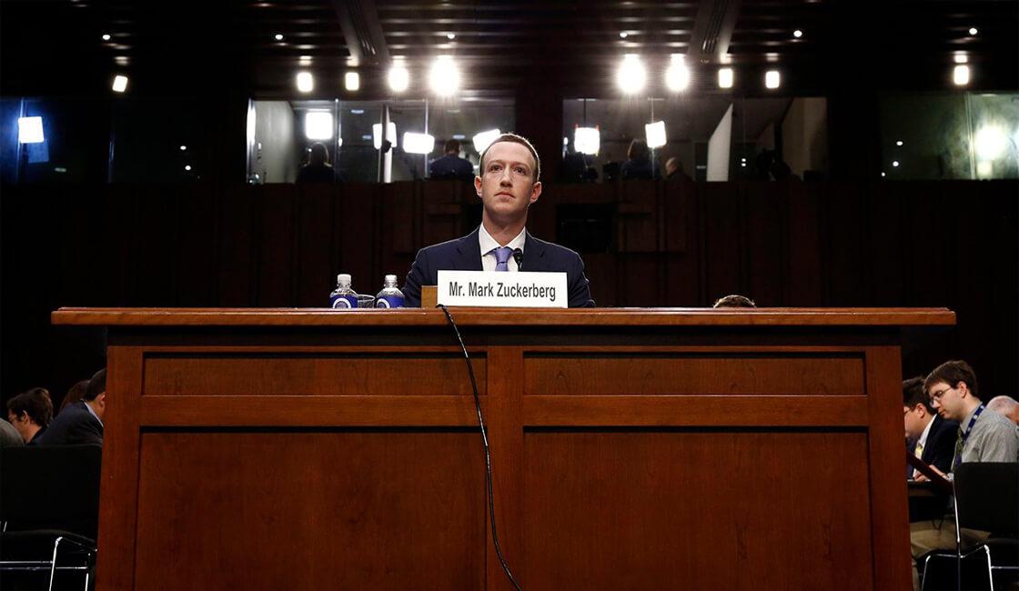 Mark Zuckerberg Senado de Estados Unidos
